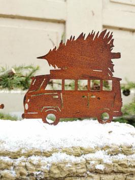 Bulli mit Weihnachtsbaum zum Schrauben