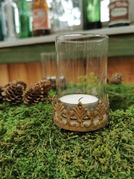 """Teelichthalter """"Victoria"""" mit Glas klein"""