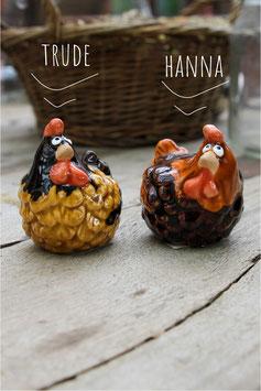Kleines Huhn - Braun/zweifarbig
