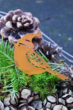 Rostiger Wintervogel zum Stecken