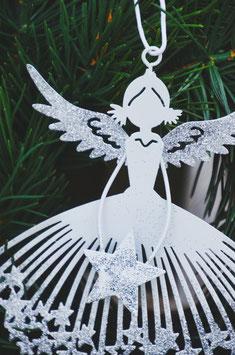 Engel in weiß/silber zum Hängen