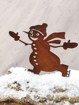 Schneemann mit Schlittschuhen zum Schrauben
