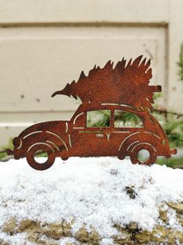 VW-Käfer mit Weihnachtsbaum zum Schrauben