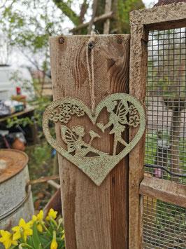 Herz mit Elfen zum Hängen