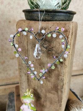 Perlenherz zum Hängen
