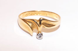 Lapponia Ring mit Brillant 0,03 ct in 750er Gold - G8
