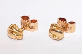 Klassische Lapponia Ohrstecker in 585er Gold