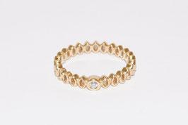 Ring von Pandora mit Brillant in 585er Gold