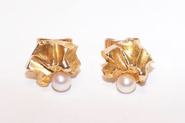 """Lapponia Ohrstecker mit Perle in 585er Gold - Modell """"Saana"""""""