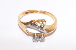 Lapponia Ring mit 2 Brillanten 0,06 ct in 750er Gold - I8