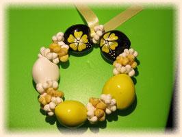 Kukui Armband Plumeria gelb