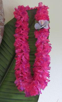 Blüten Lei pink
