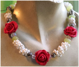 Collier Rose rouge