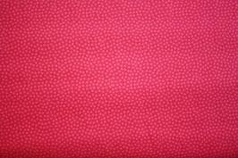 Baumwollstoff Rot/Ton in Ton Dotty 1,5 mm