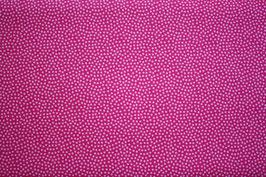 Baumwollstoff Pink/Ton in Ton Dotty 1,5 mm