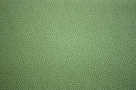 Baumwollstoff Apfelgrün/Ton in Ton Dotty 1,5 mm