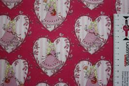 Baumwollstoff Pink/Rose Steinbeck