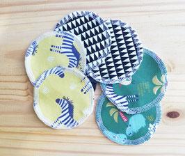 Lot de 6 lingettes démaquillantes lavables - micro éponge de coton Oeko tex