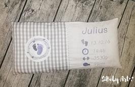 Kissen/Geburtskissen mit Namen & Motiv