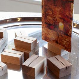 kleiner Foto-/ Kartenhalter aus Holz