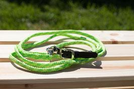 Welpenseil Größe XS Halsband und Leine (Breite ca. 6mm) mit silbernem Verschluss auf Maß gefertigt!