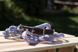 Welpenseil Größe S Halsband und Leine (Breite ca. 6mm) mit silbernem Verschluss auf Maß gefertigt!