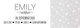 """Geburtskissen - Echtmaße Design """"Emily"""""""