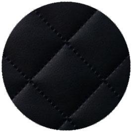 Lederimitat schwarz, gesteppt