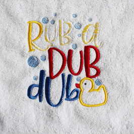 Handtuch: rub a dub