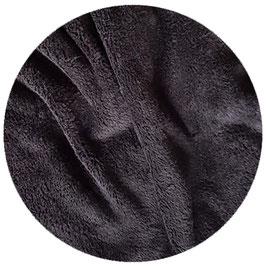Flauschstoff schwarz