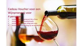 Cadeau Voucher voor een wijnproeverij op een dag naar keuze