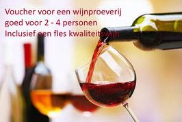 Voucher om meer personen bij te boeken voor de wijnproeverij.