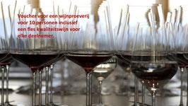 Groepsvoucher voor een wijnproeverij voor 8 à 10 personen op een dag naar keuze