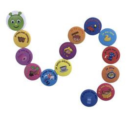 La Petite Chenille : 14 magnets routine maternelle
