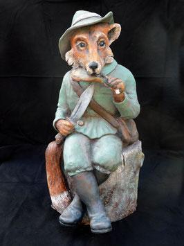 Johann Maresch Fuchs in schwerer Keramik- Nachbau
