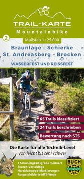 Mountainbike-Karte Braunlage bis Brocken