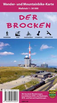 Der Brocken - Wander- und Mountainbike-Karte