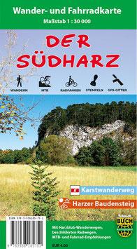 Der Südharz - Wander- und Fahrradkarte