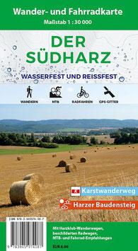 Der Südharz - Wander- und Fahrradkarte (wasserfest und reißfest)
