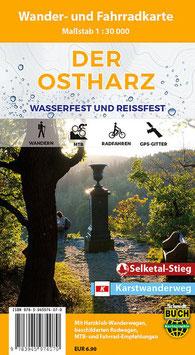 Der Ostharz - Wander- und Fahrradkarte (wasserfest und reißfest)