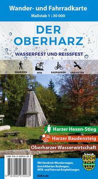 Der Oberharz - Wander- und Fahrradkarte (wasserfest und reißfest)