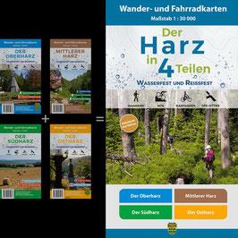 Der Harz in 4 Teilen - (wasserfest und reißfest)