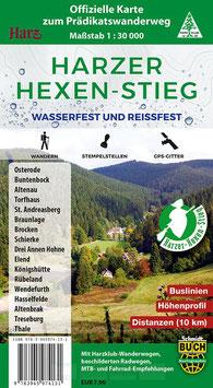 Harzer-Hexen-Stieg - offizielle Wanderkarte - reiß- und wasserfest