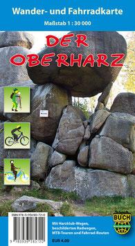 Der Oberharz - Wander- und Fahrradkarte