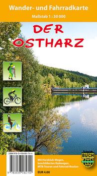 Der Ostharz - Wander- und Fahrradkarte
