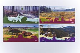 Harz Ansichtskartenset -4 Jahreszeiten- 4-teilig