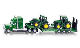 1837 Low Loader with John Deere Tractors 1/87