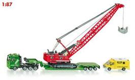 1834 運搬車付き採掘クレーンとサービスバン 1/87