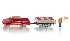 3543 Pick up with tipping trailer 1/55