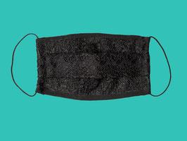 Behelfs-Mund-Nasen-Maske, schwarze Spitze